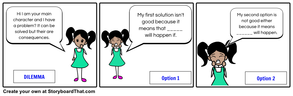 Our Dilemma Lesson Plan Includes Dilemma Definition For Moral Dilemma U0026  Ethical Dilemma And Has Storyboard Dilemma Examples From Famous Works Of  Literature