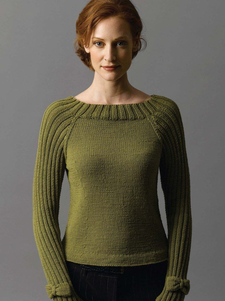 Photo of Bow-Tie Pullover in Filatura Di Crosa Zara | Strickanleitungen | LoveKnitting
