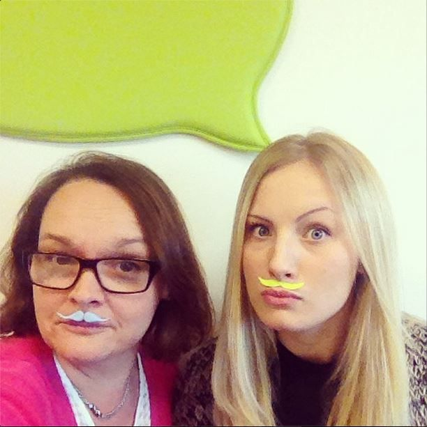 Harriet and Alison have decided to sprout Zesty moustaches for #movember. Not quite sure that they're real, but it's the thought that counts!! http://www.zest-communications.co.uk/