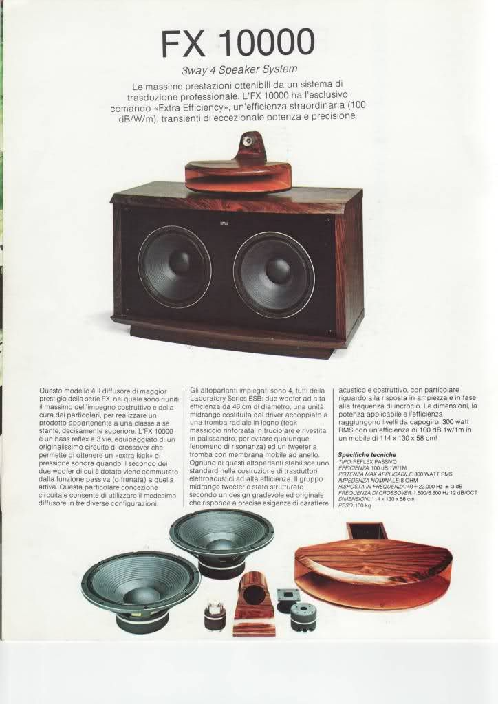 The Awesome FX10000. Buit by Fostex it was retailed in Italy by ESB in the 80's. Amazing sound form very high efficiency speakers (100 db)