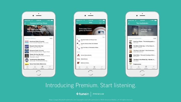 TuneIn Premium Takes on Spotify, Apple With Sports