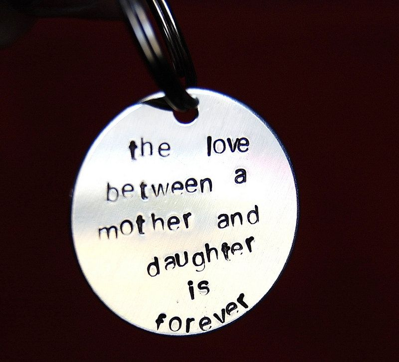 Gift For Mom From Daughter On Wedding Day Birthday Mothers To Keychain 24 00 Via Etsy