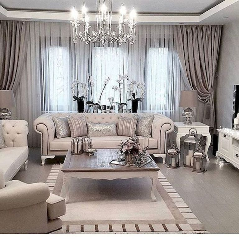Modern Glam Style Living Room Ideas 6 Curtains Living Room