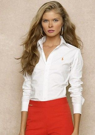 Polo Ralph Lauren Shirts Women Slim Fit Oxford White | Mostly ...