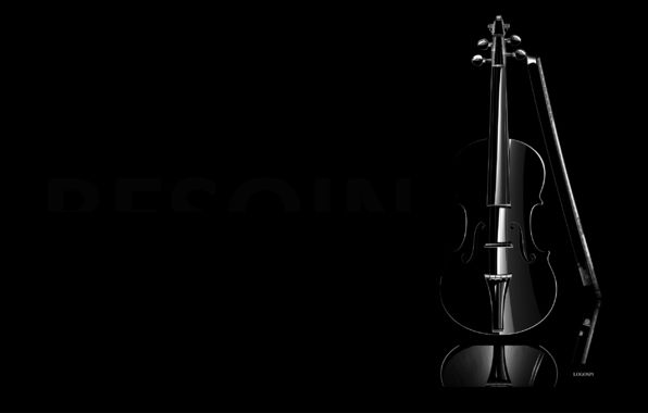 Wallpaper Background Dark Black Violin Minimalism A Musical Instrument Black Violin Black Wallpaper Violin