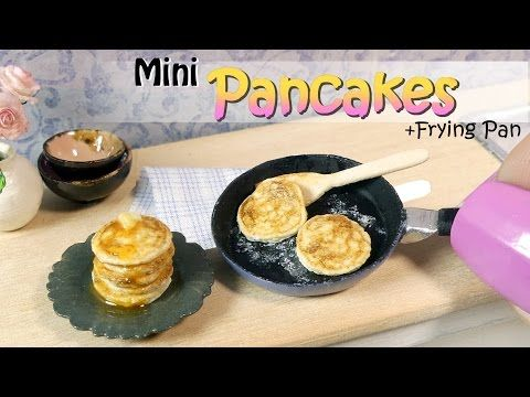 Miniature food pancake tutorial diy miniature food youtube today were cooking up some american miniature pancakes im also going to show you how to make a basic frying pan which goes perfectly with thi ccuart Images