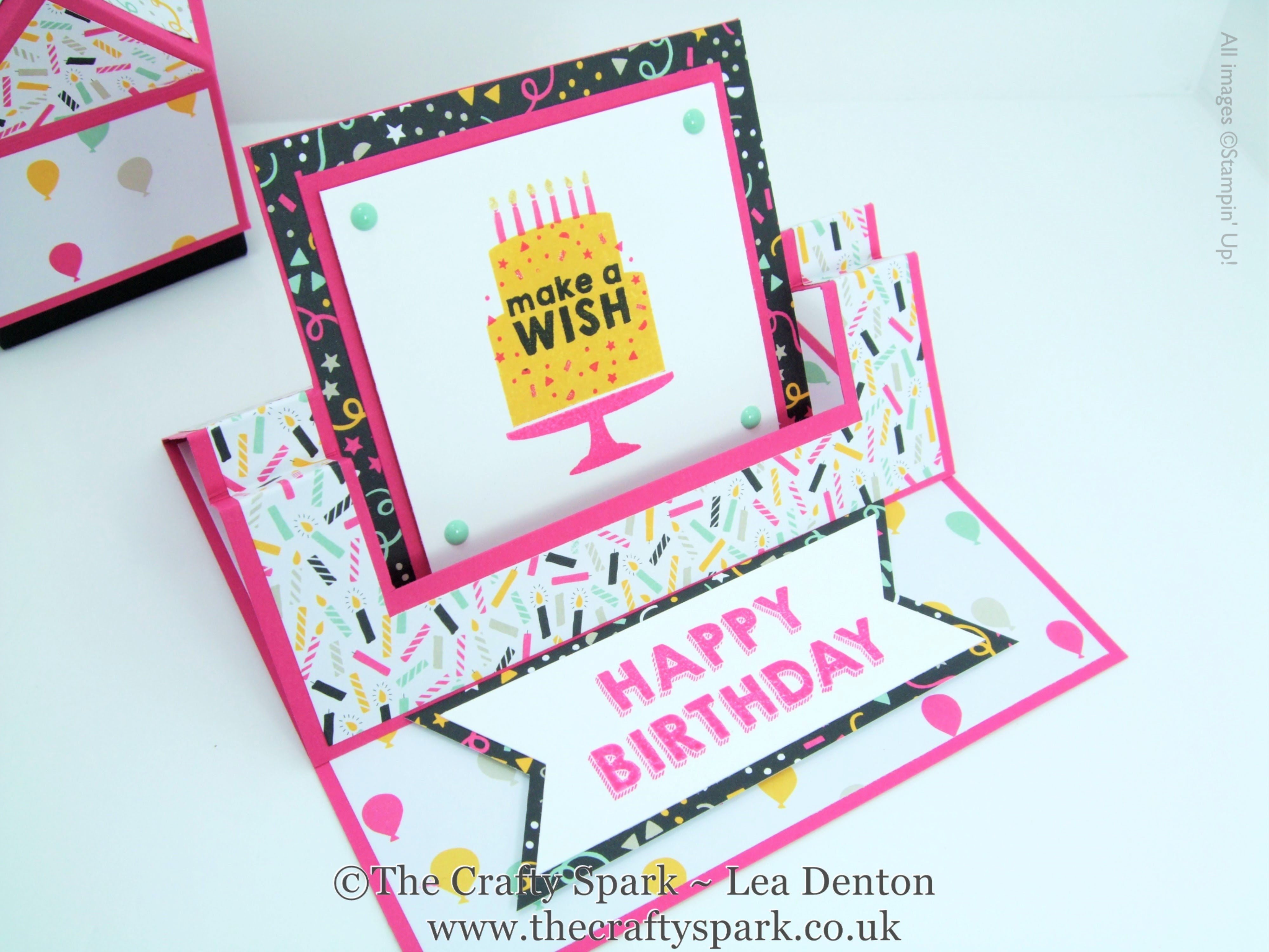 Its My Party Fancy Fold Swing Easel Card Stampin Up UK with