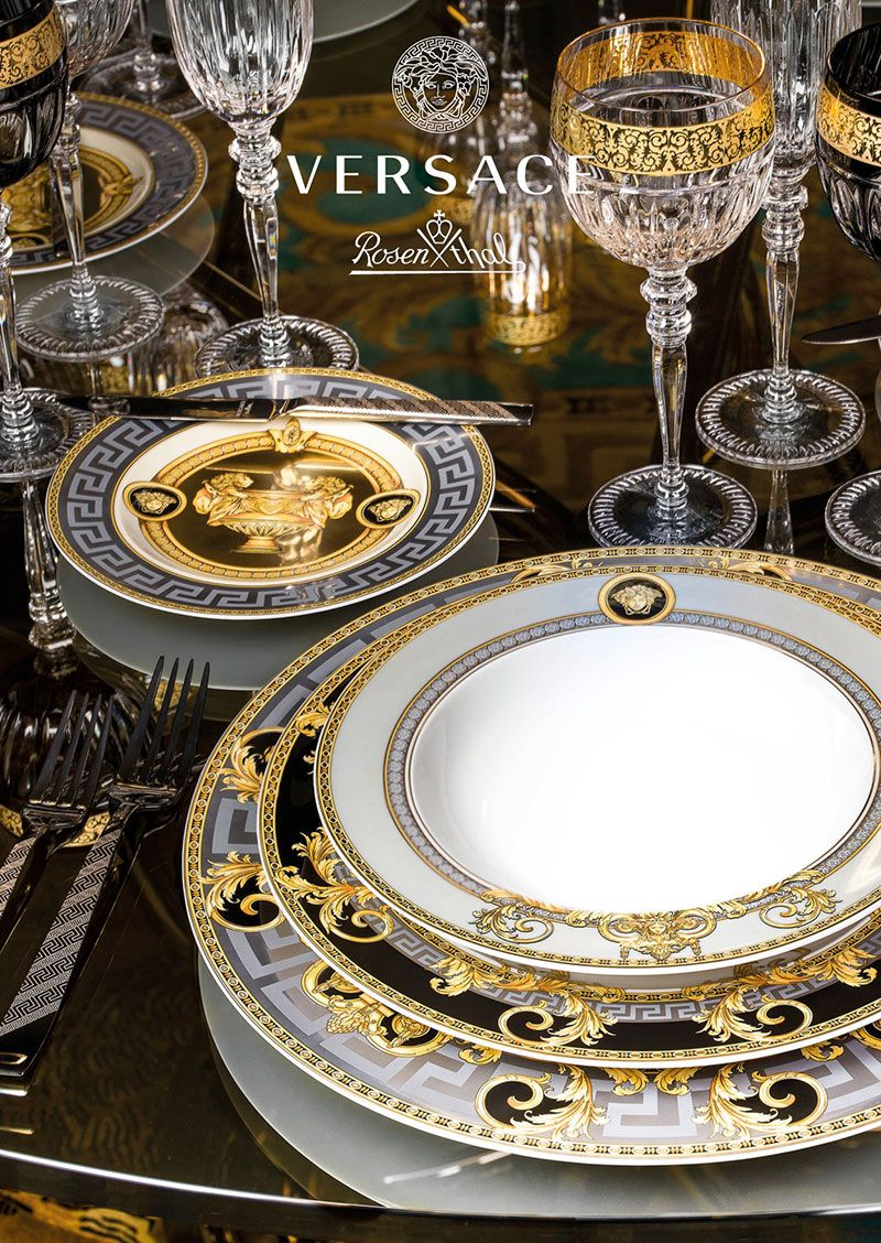 Luxury Table Setting From Rosenthal And Versace. Do It Like A Butler.
