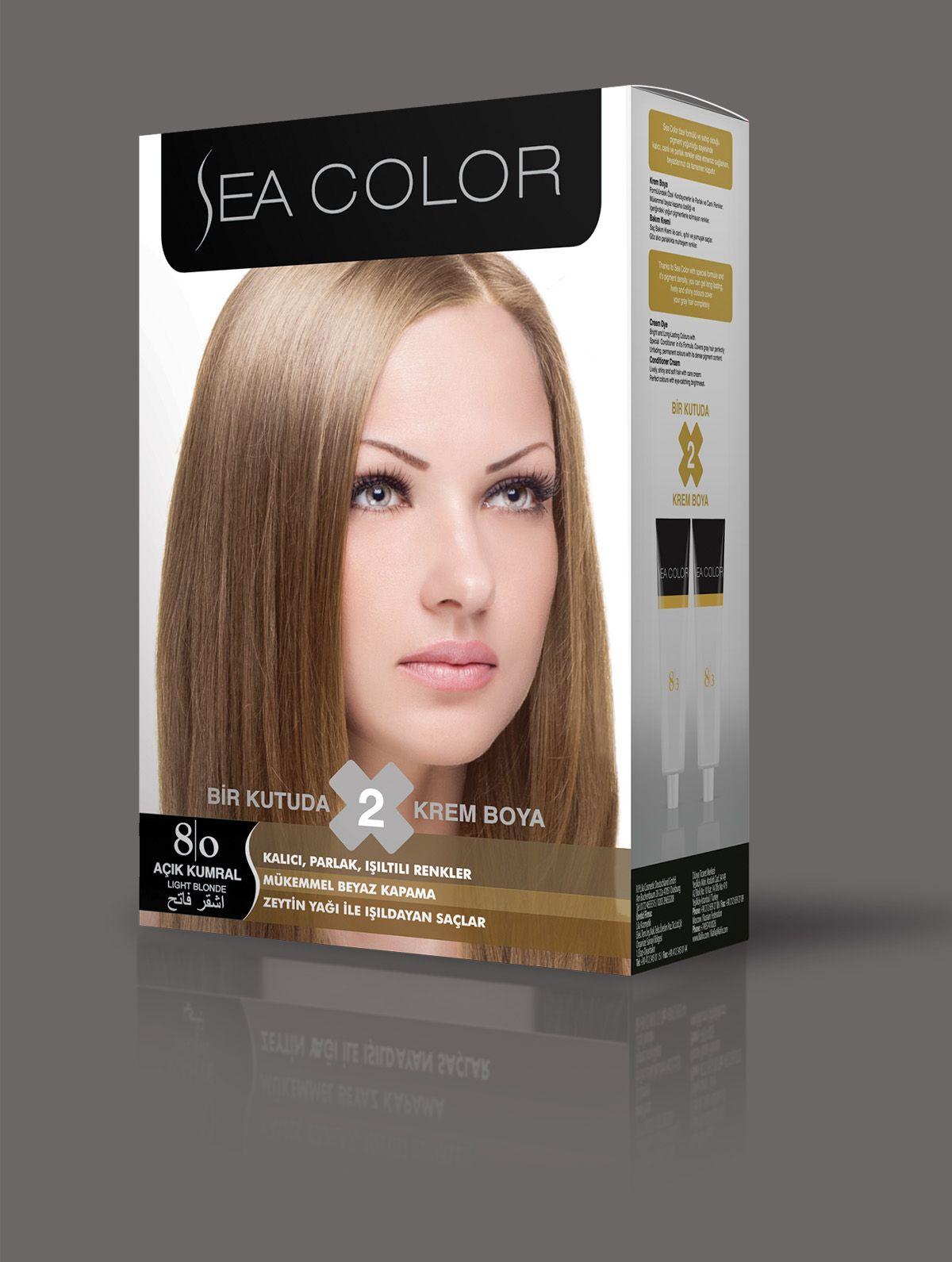 Sea Color Sac Boyasi 8 0 Acik Kumral 2020 Sac Boyasi Sac