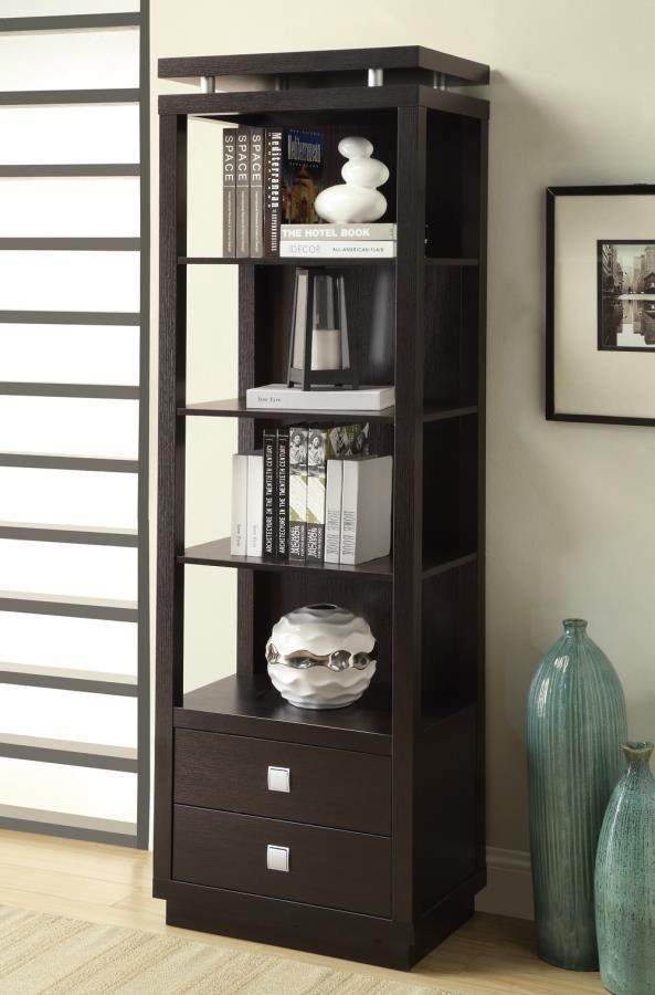 Coaster Modern Bookcase With Bottom Drawers Las Vegas Furniture