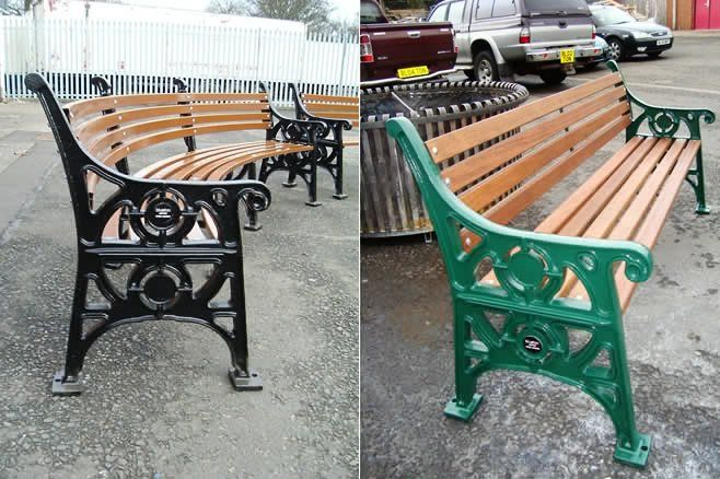 Blueton Limited - The new name in street furniture - Ref 052 Cast Iron & Timber Seating £427.00