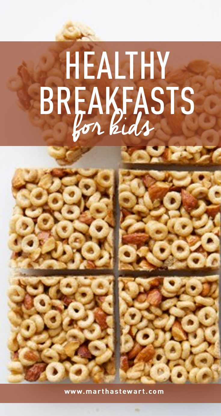 Healthy Breakfasts for Kids | Martha Stewart Living - Our tasty takes on brain food will help start their day off right.