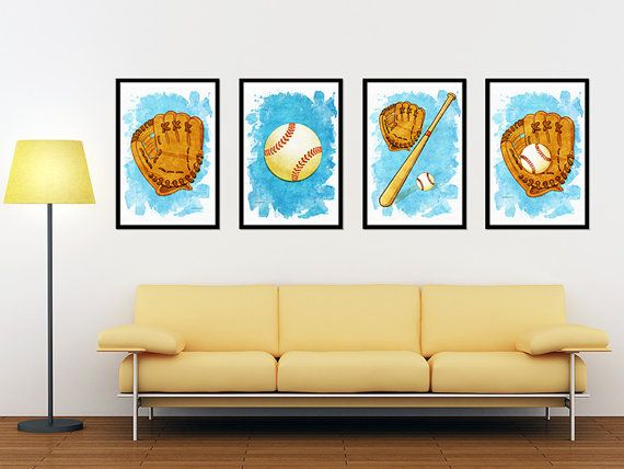 Baseball Sports Print Poster Wall art decor download Baseball boys ...