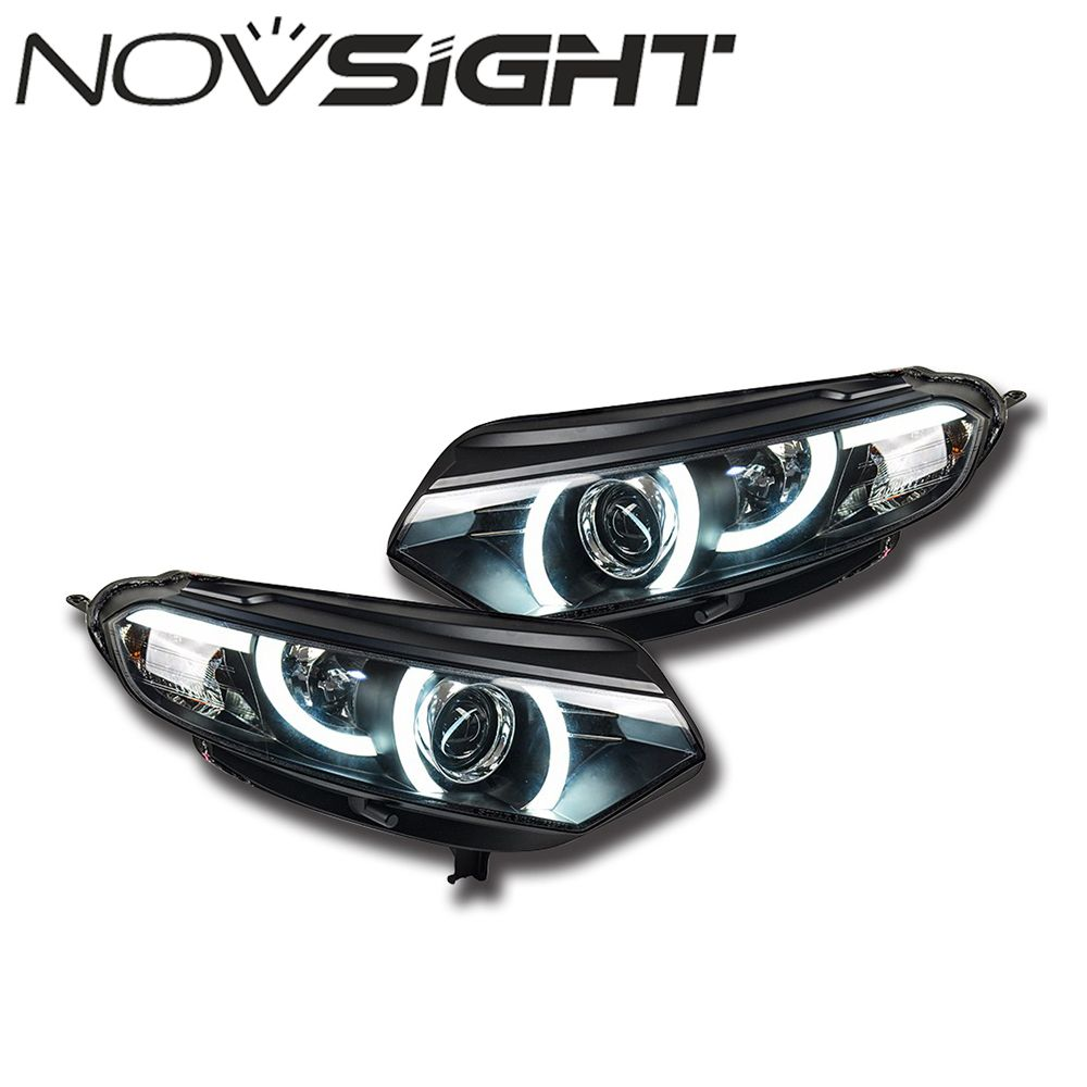 2pcs Set Auto Car Led Projector Headlights Assembly Turn Singal
