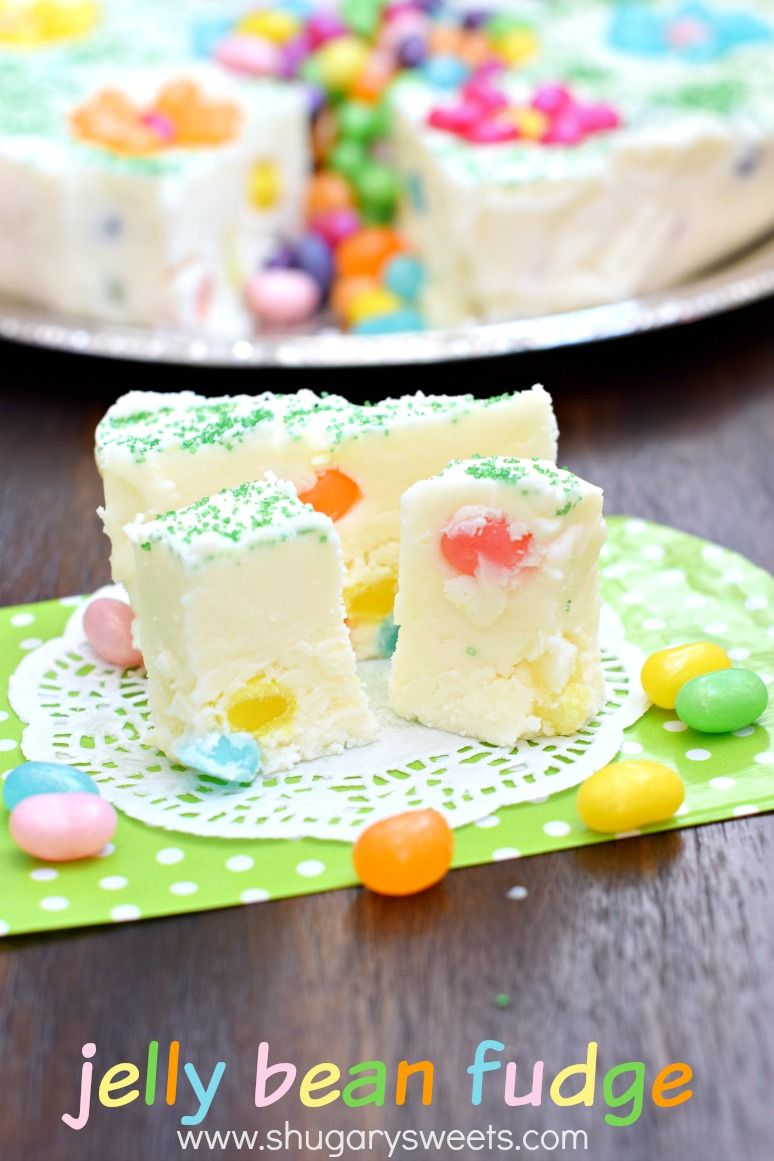Jelly bean fudge a delicious beautiful spring dessert idea 22 homemade food gifts that will seriously upgrade your easter basket negle Choice Image