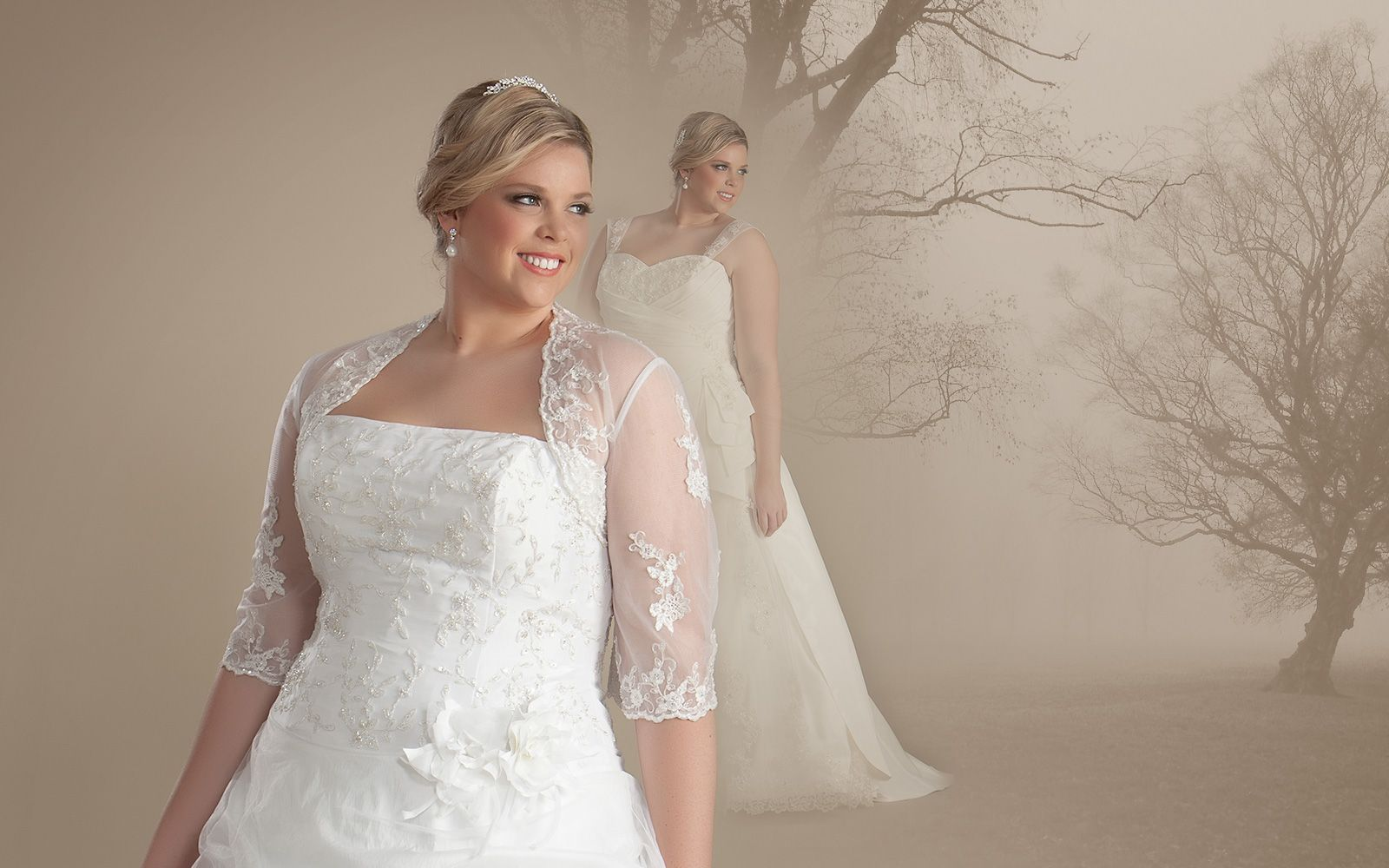 Extraordinary plus size wedding dresses with sleeves - http://www ...