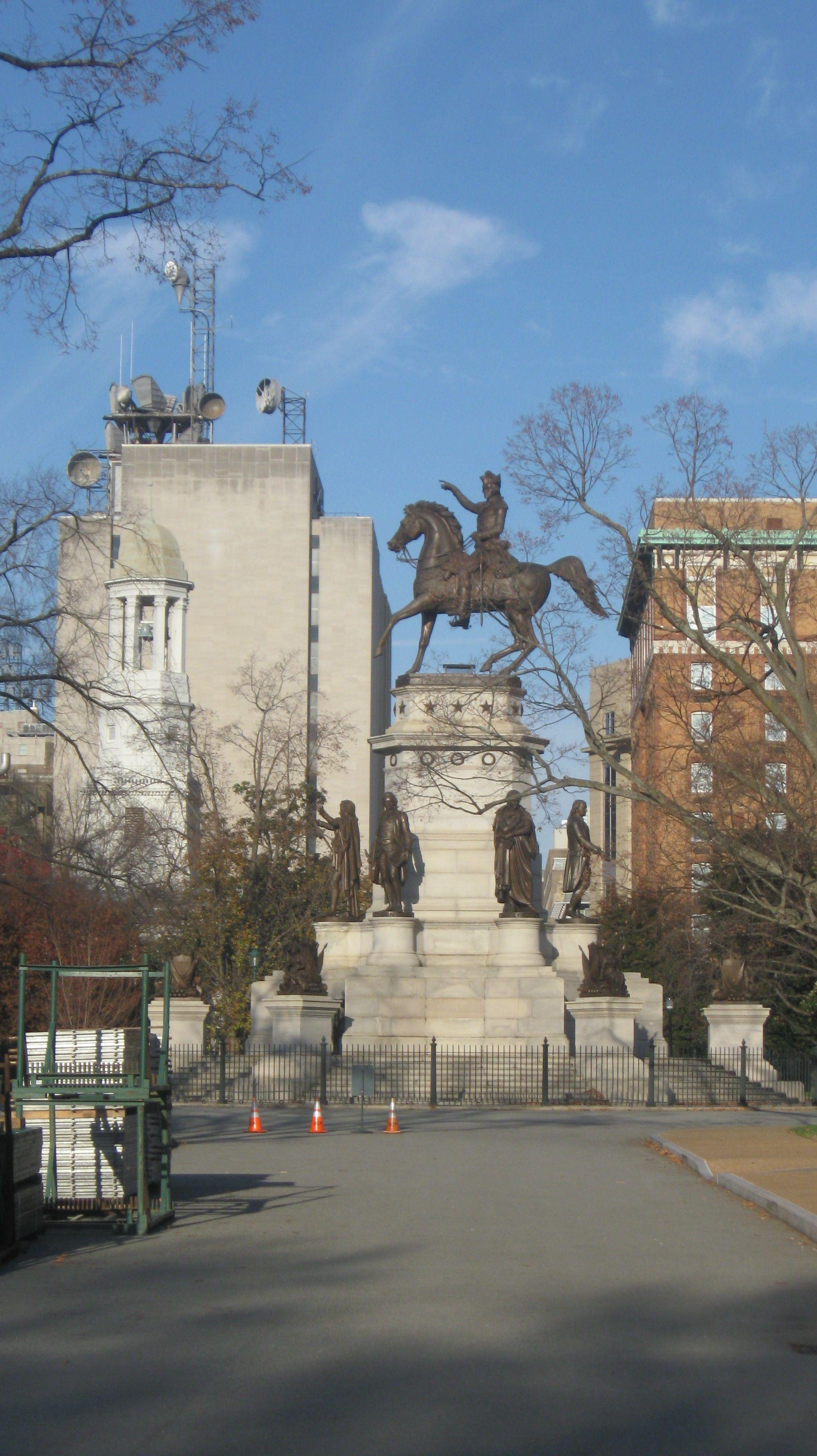 Statue Of George Washington At Richmond Virginia State