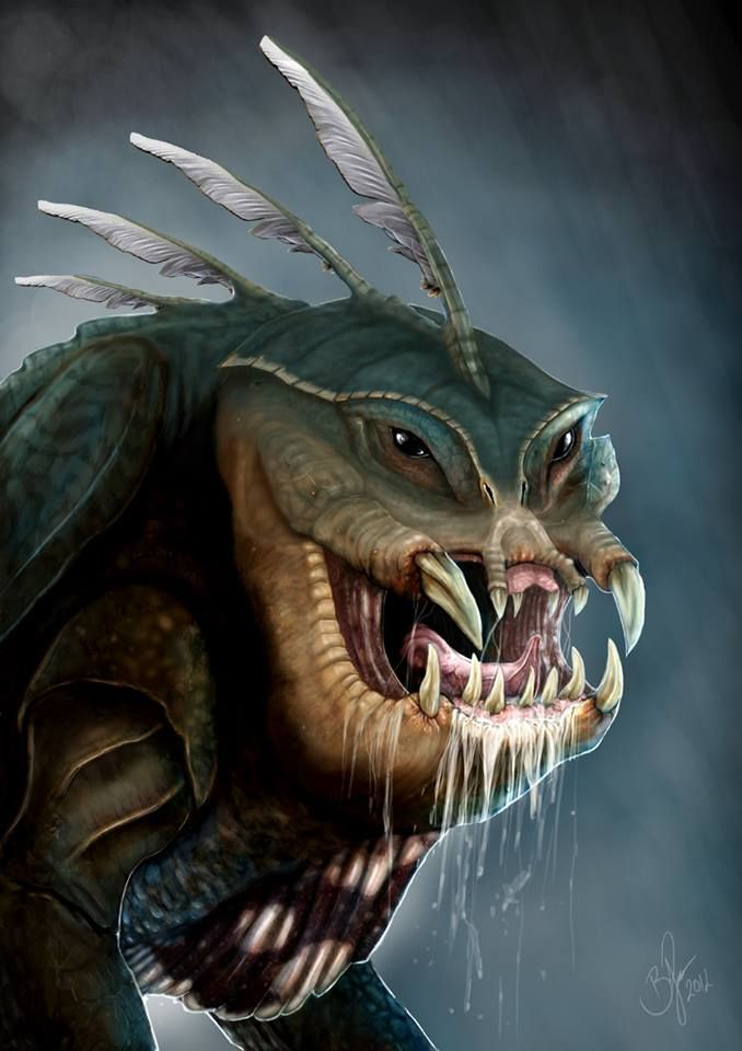WATER MYTHOLOGY THE BUNYIP Bunyip literally means devil ...