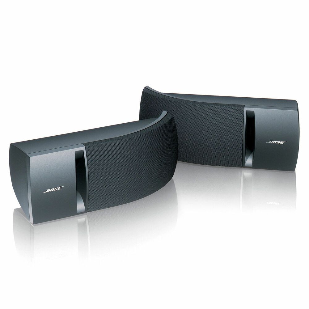 Bose 161 Stereo Speakers Pair Black Brand New In Box With Wall Mounts Bose Stereo Speakers Surround Speakers Best Home Theater Speakers