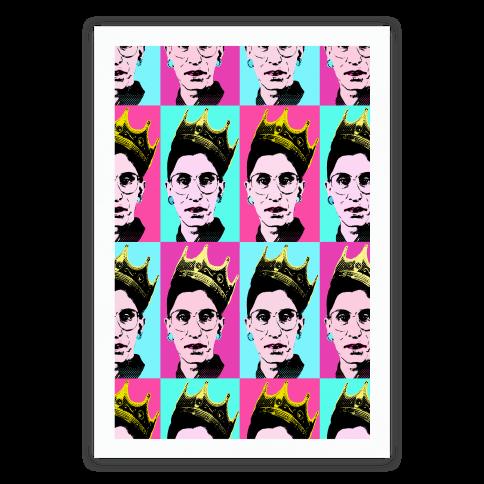 Notorious Rbg Pop Art Pattern Posters Lookhuman Pop Art Patterns Pattern Art Pop Art Posters