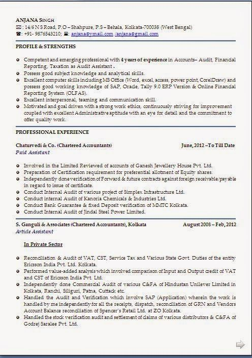cv resume Beautiful Curriculum Vitae   Resume Format with Career - chartered accountant resume