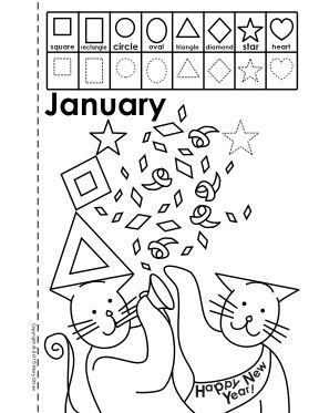 Months of the Year-Shape Book Activity Coloring Pages