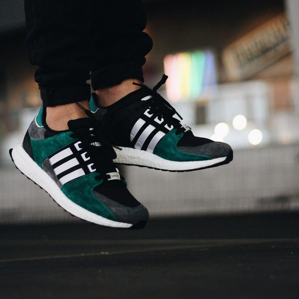 on sale 328de fb225 Adidas EQT Support 9316 Core Black  White  Sub Green Credit  The Good  Will Out