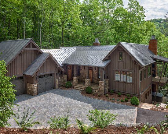 Unique rustic home exterior design traditional landscape - Rustic home exterior color schemes ...
