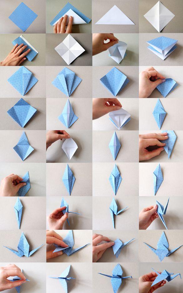 Gesamtanleitung Origami Kranich #origamianleitungen