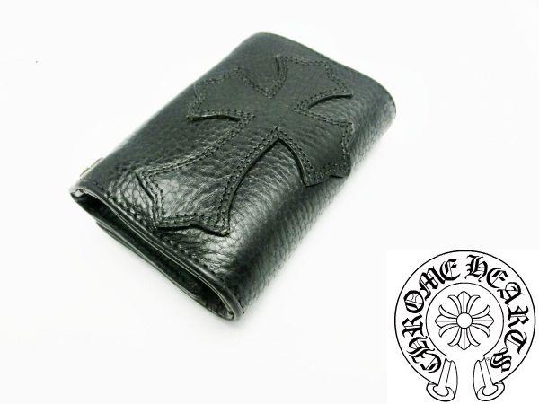クロムハーツ 財布 コピー 3フォールドウォレット クロスパッチ Chromehearts 025