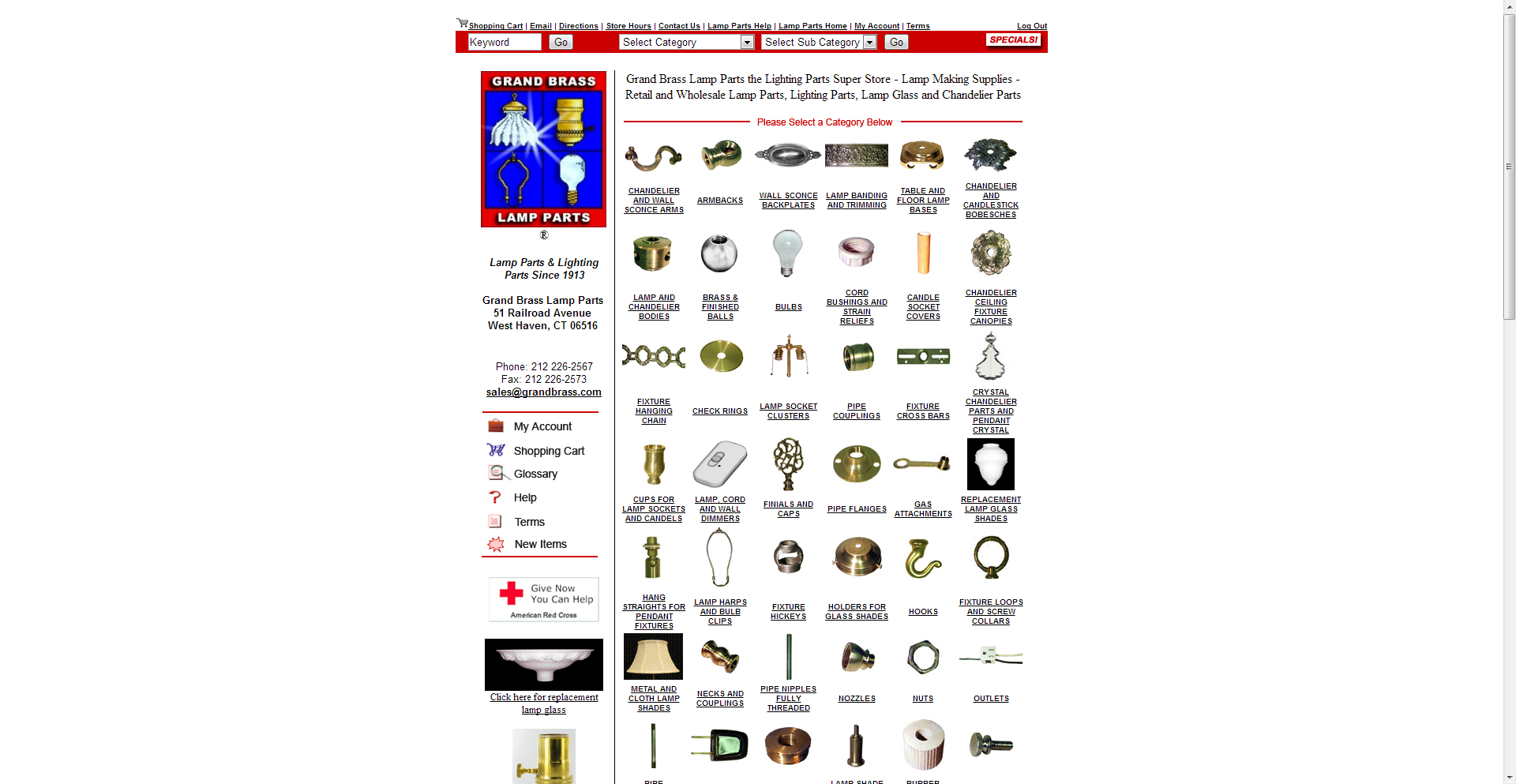 NYC - Lamp Parts | Lighting Parts | Lamp Glass and Chandelier ...