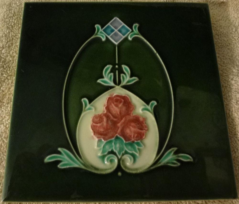 Antique art nouveau ceramic tile england hr johnson ltd antique art nouveau ceramic tile england hr johnson ltd artnouveau dailygadgetfo Gallery