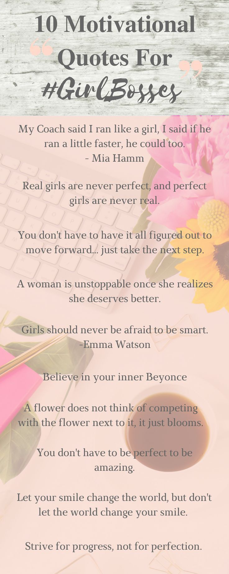 Inspiring Quotes For Teens 10 Motivational Quotes For #girlbosses  Pinterest  Inspirational .