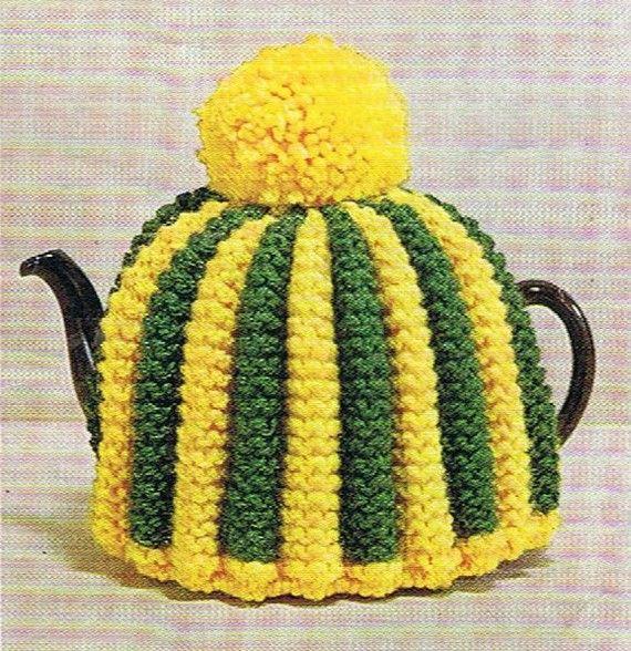 1960s Retro Tea Cosy Pattern 6 Knitting Patterns Tea Cozy Pdf Six