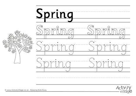 write about spring season