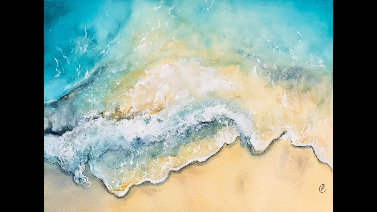 Ocean Waves In Watercolors Painting Tutorial Watercolor