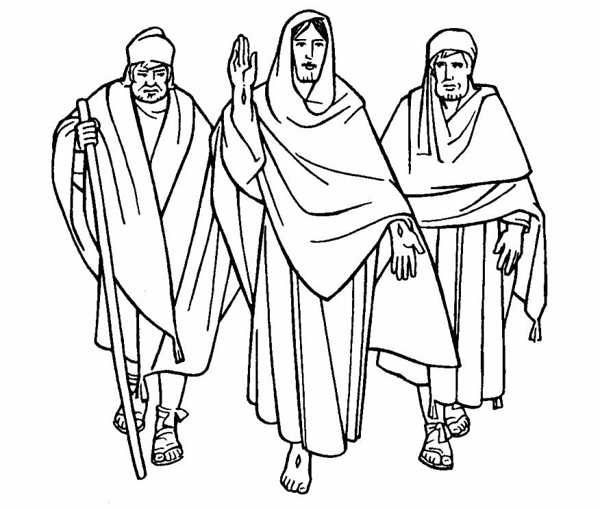 40++ Jesus on the road to emmaus coloring page download HD