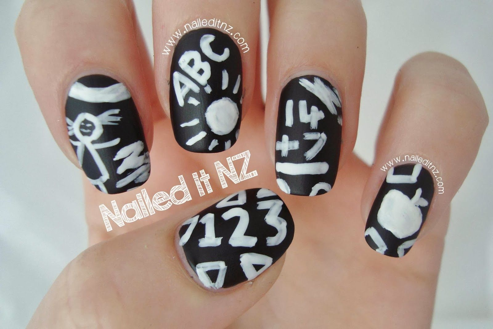Nailed It Nz Revlon Nail Art Chalkboard Nails Nails Art