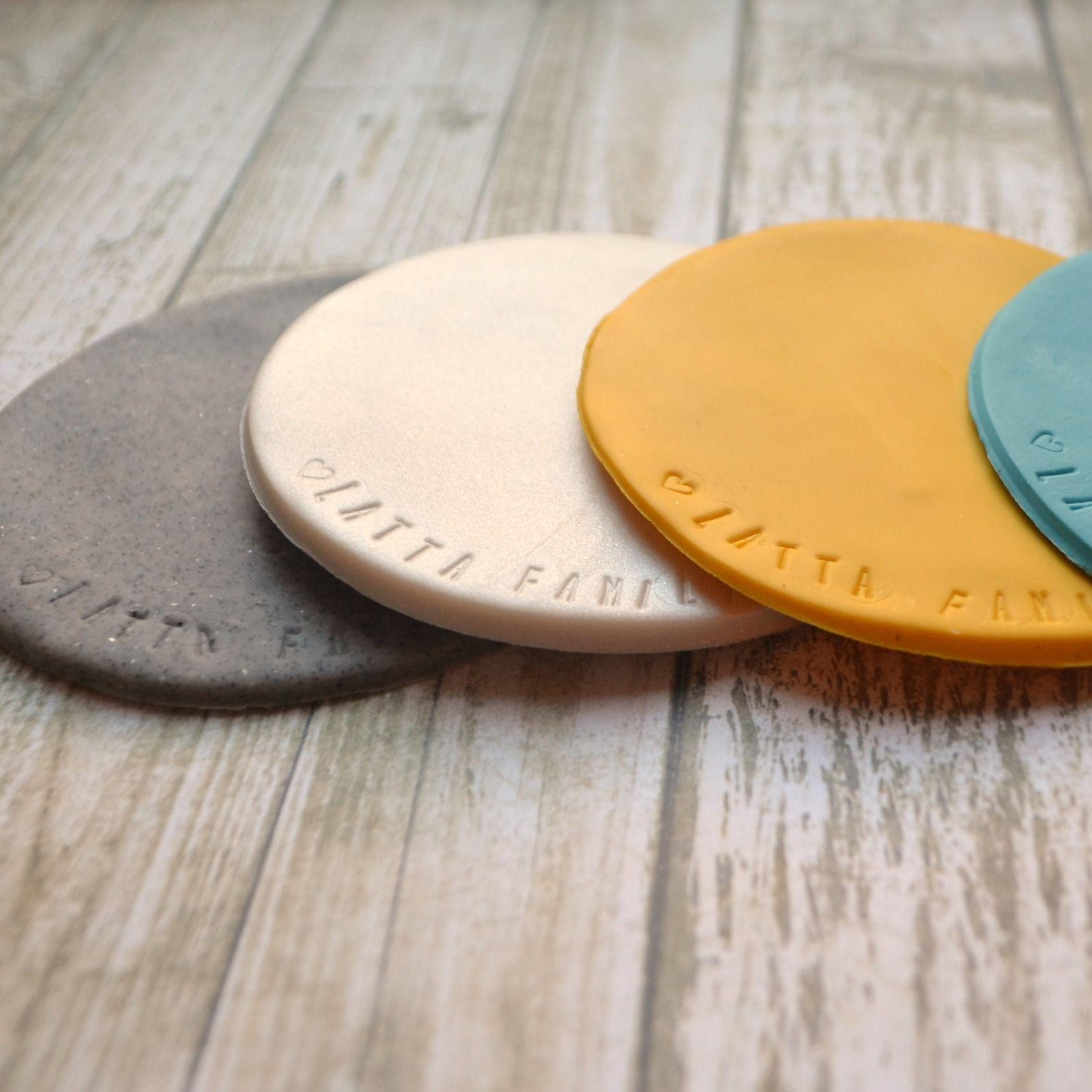 Sculpey Clay Coasters Sculpey clay, Diy air dry clay