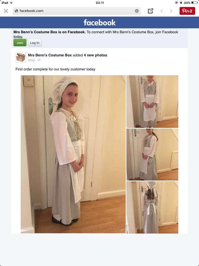 White tudor apron - Tudor Pauper Girls Costume Custom Made For A School Kentwell Hall Trip Please Visit Mrs Benn S