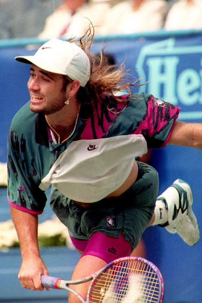 Agassi Andre agassi, Tennis legends, Tennis stars