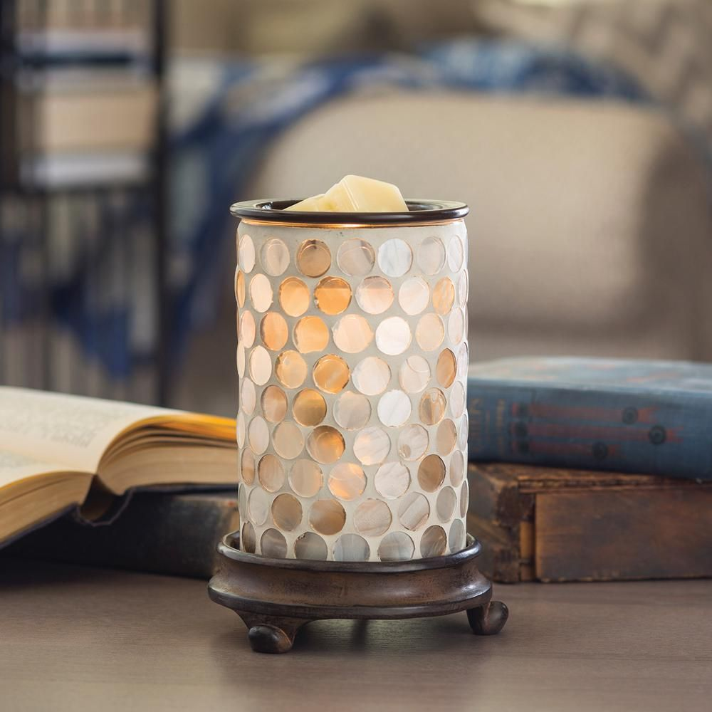 Candle Warmers Etc 8 8 in  Pearl Glass Illumination