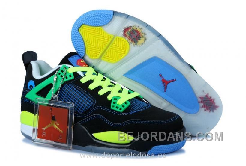 Women Jordan Shoes -jordan shoes for women Women Air Jordan 4 Superman   Women Air Jordan 4 - Women Air Jordan 4 Superman here sports a black and  blue look ... 0773519b1