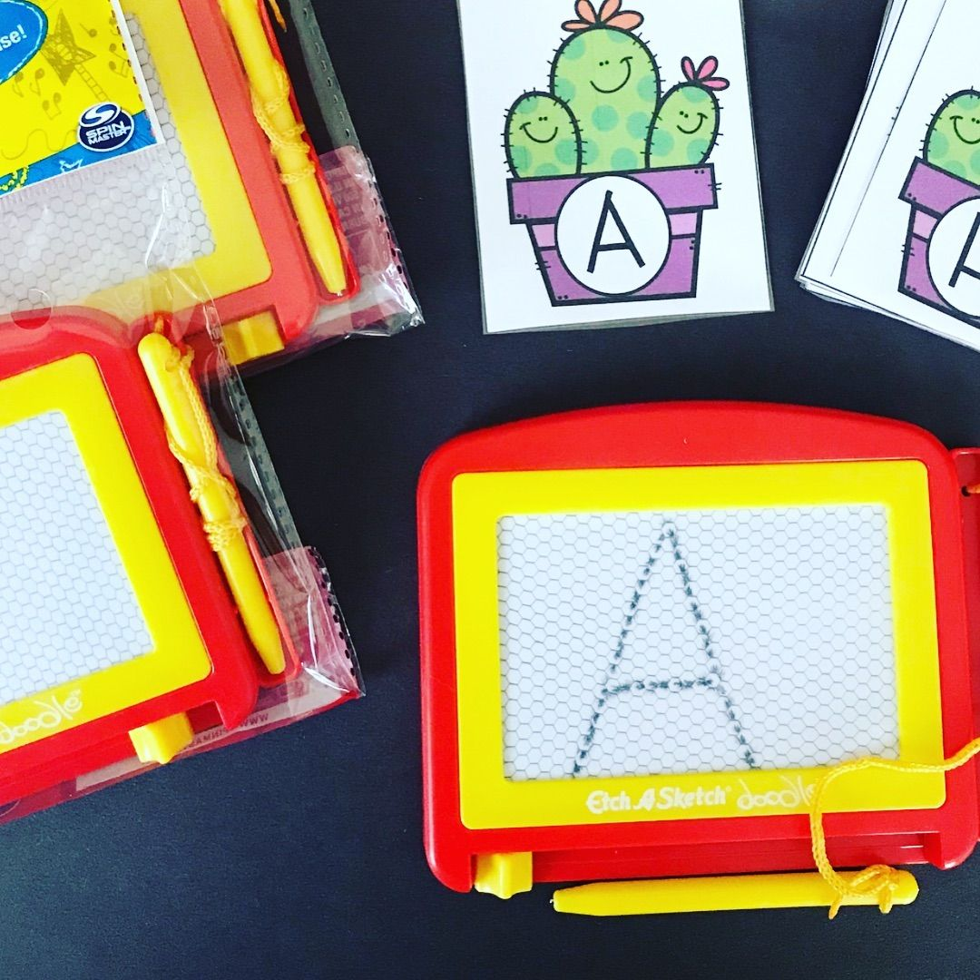 Mini Magna Doodles Are A Huge Hit With Kids We Love How Kinderbuckeye Uses These In Centers For Writing Practice H Writing Practice Doodles Writing Center