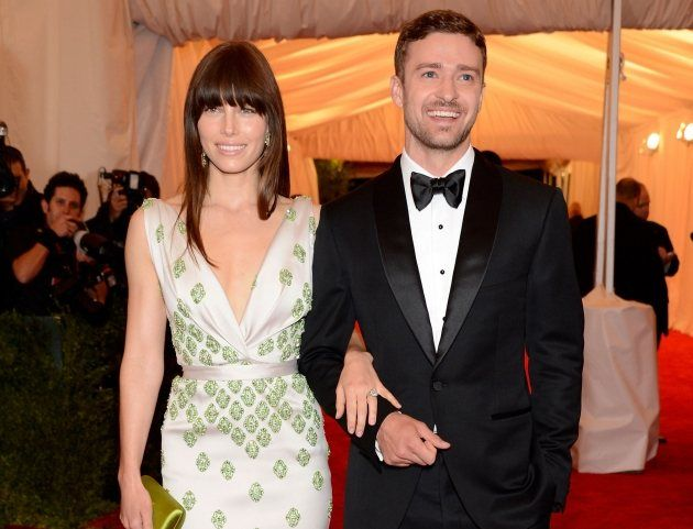 I have to pin this for Jessica Biel's dress. To die for!