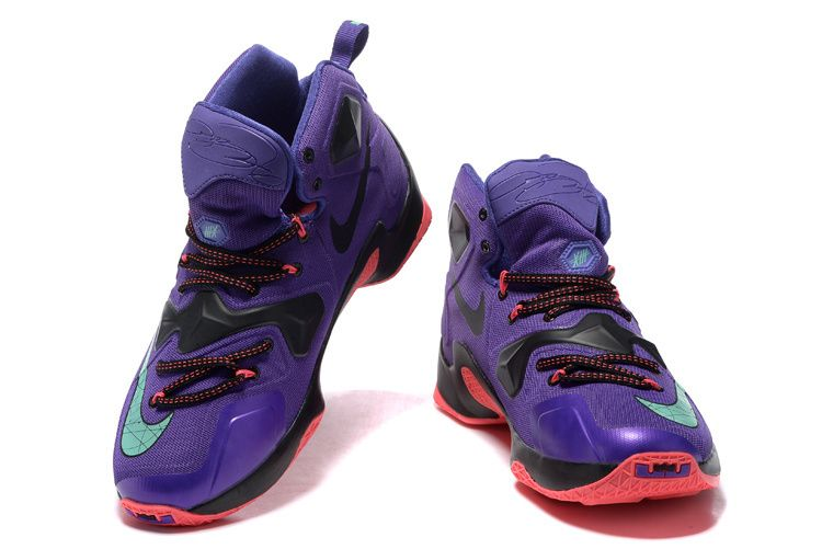 newest 83ca4 05812 2016-2017 Sale Lebron 13 XIII Hyper Grape Cave Mint Crimson New Arrival  2016 Sneakers