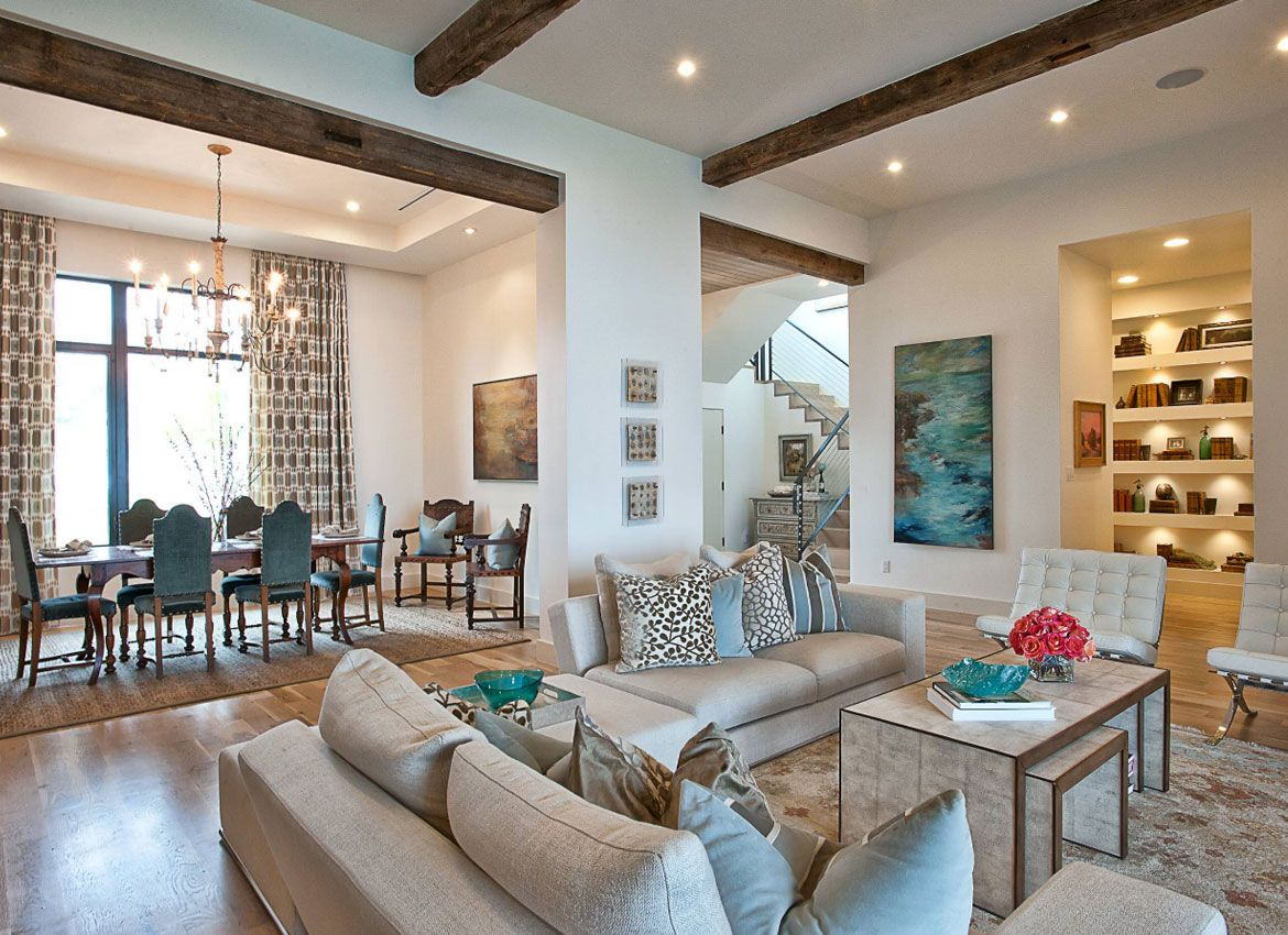 25 Exciting Design Ideas For Faux Wood Beams Beige Living R