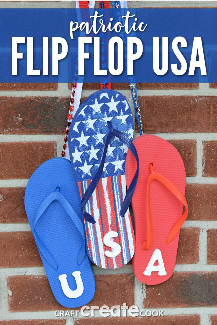1df463f83 USA Flip Flop Sign to Make - Craft Create Cook