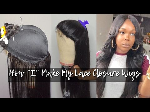 Start To Finish Full Wig Tutorial Aliexpress Stema Hair Youtube Diy Wig Lace Closure Wig Wigs