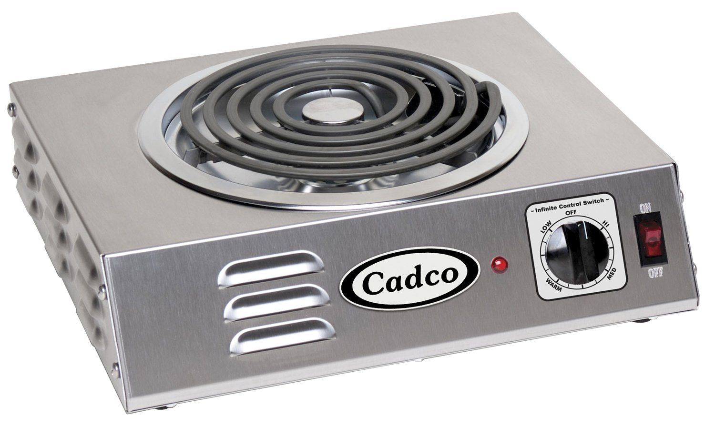 Cadco Csr 3t Countertop Hi Power Single 120 Volt Hot Plate This